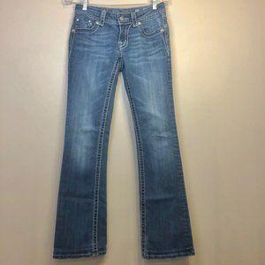 MISS ME 💎 Sz. 27 Hibiscus JP54738 boot cut jeans